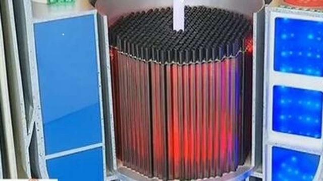 Một mô hình lò phản ứng để sản xuất điện được trưng bày tại Trung Quốc hồi tháng 4 (Ảnh: SCMP)