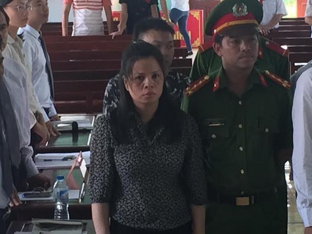 Bị cáo Lương Thị Thảo tại phiên xử sơ thẩm