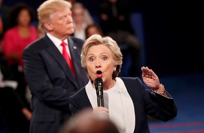 Ty le ung ho Clinton vuot troi sau video tho tuc cua Trump hinh anh 1