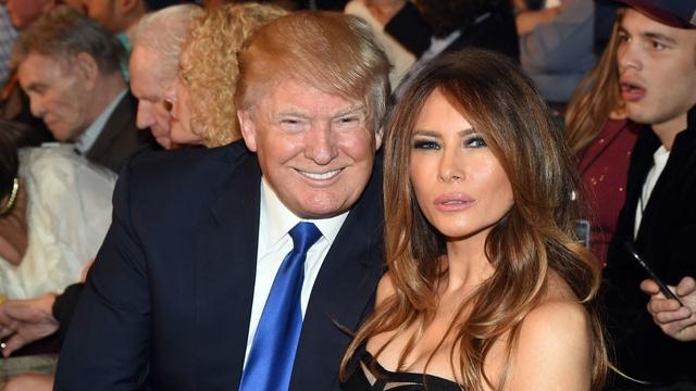 Vợ chồng tỷ phú Donald Trump. (Ảnh: AFP)