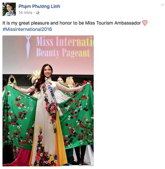Hot: Chỉ mới bắt đầu, đại diện Việt Nam - Phương Linh đã giành danh hiệu tại Hoa hậu Quốc tế 2016 - Ảnh 1.