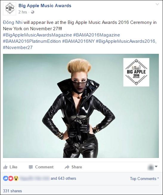 Đông Nhi được sang New York nhận giải thưởng âm nhạc quốc tế mà không biết gì? - Ảnh 1.