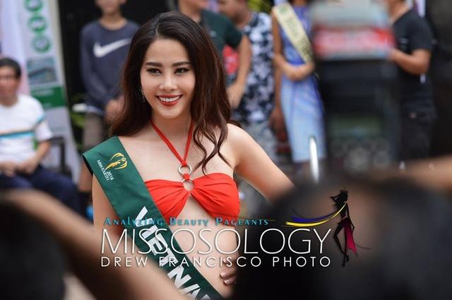 Nam Em - đại diện của Việt Nam tại cuộc thi Hoa hậu Trái đất năm 2016 sở hữu chiều cao 1m73, nặng 50kg và số đo ba vòng là 85-60-90.