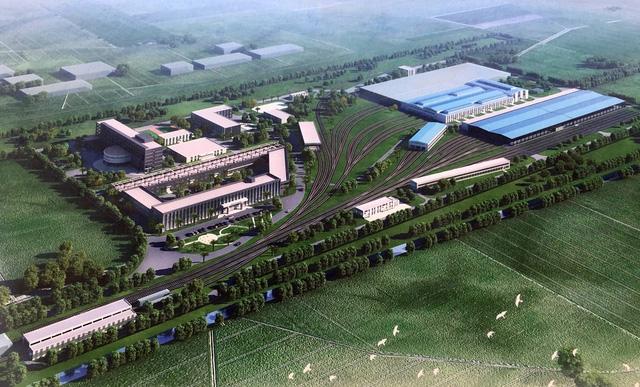 Mô phỏng trung tâm điều hành và nhà ga đầu của dự án khi hoàn thành đưa vào khai thác