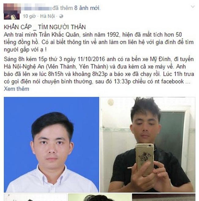 Nam sinh vừa tốt nghiệp ĐH Bách Khoa Hà Nội mất tích bí ẩn trên đường về quê - Ảnh 1.
