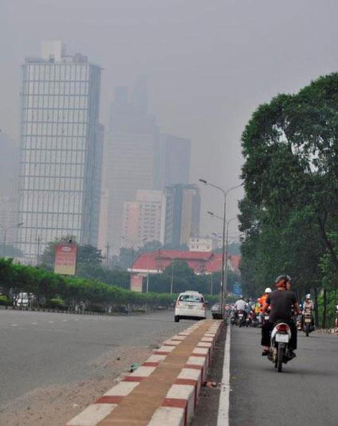 sương mù, sài gòn, ô nhiễm không khí, mưa, khí tượng