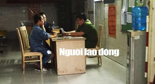 Tùng Sơn (tên thật Sơn Chanh Ni) đang làm việc tại công an phường 1, quận 5.