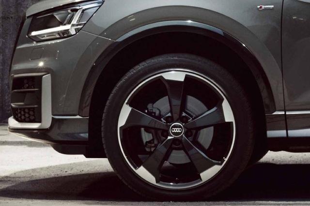 Vành la-zăng của chiếc xe Audi Q2 vừa cập bến Việt Nam khá giống với vành la-zăng của chiếc Audi Q2 Edition #1.