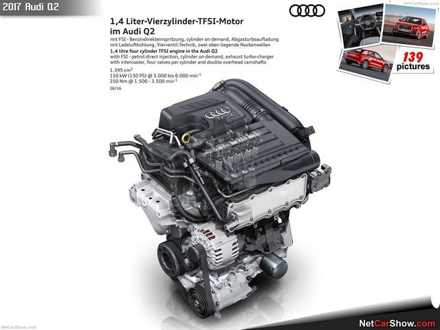 Trông khá giống với thiết kế của động cơ Audi Q2 1.4L TFSI.
