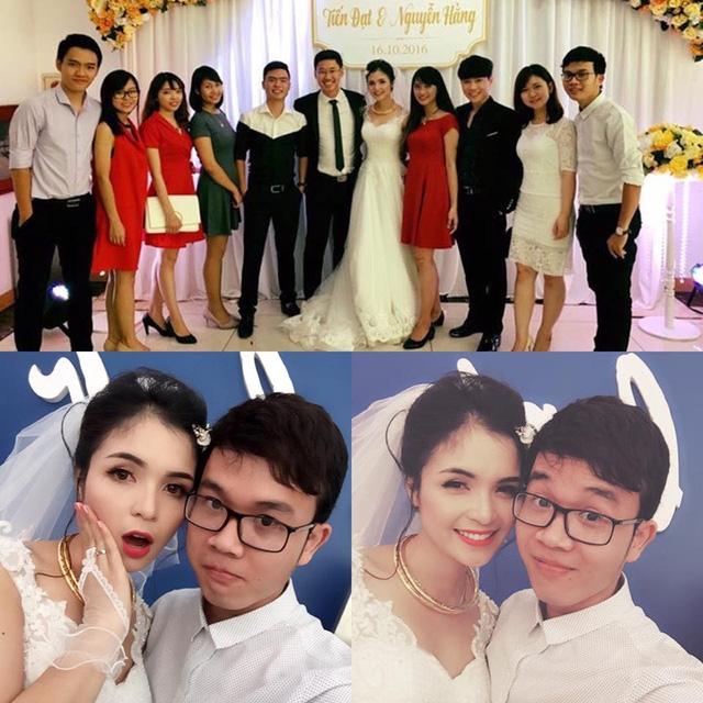 Cô dâu xinh xắn bên bạn bè trong ngày vui.