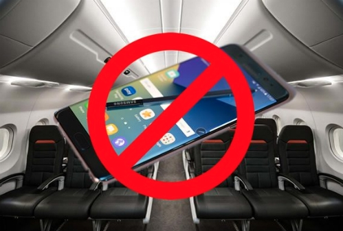 Dù tắt máy hay cất trong hành lý ký gửi, Galaxy Note 7 bị nhiều hãng hàng không cấm mang theo các chuyến bay.
