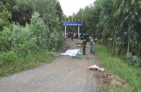 Cảnh sát khám nghiệm hiện trường