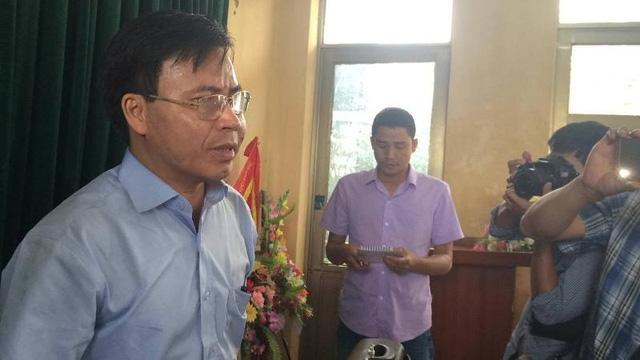 Ông Lê Ngọc Huấn, Chủ tịch UBND huyện Hương Khê tiếp tục khẳng định chính quyền huyện Hương Khê không hề được thông báo về kế hoạch xã lũ của Nhà máy thủy điện Hố Hô