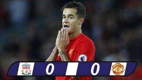M.U chủ động phòng ngự, cầm hòa Liverpool trên sân Anfield