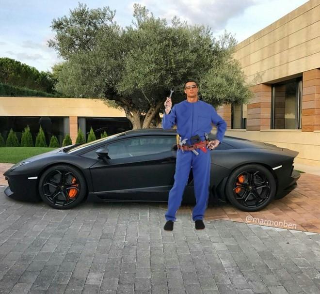 Ronaldo hoa nguoi doi, sieu xayda va tho sua xe hinh anh 5