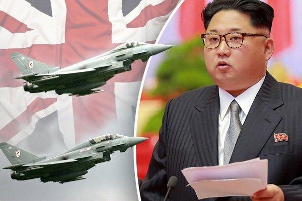 Anh, Kim Jong-un, Triều Tiên, chiến cơ, Typhoon, tức giận, tập trận, Hàn Quốc, Mỹ, tên lửa, chiến tranh