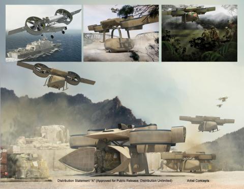 UAV ARES tương lai của Thủy quân lục chiến Mỹ.