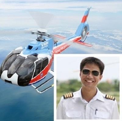 Phi công Dương Lê Minh gặp nạn khi đang bay huấn luyện trên chiếc trực thăng EC130.
