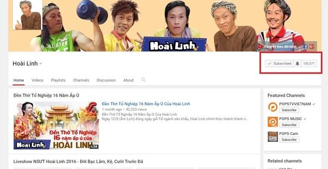 Hoai Linh nhan nut play ma Bac tu YouTube hinh anh 1
