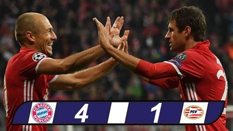 Hủy diệt PSV, Bayern chấm dứt mạch 3 trận không thắng