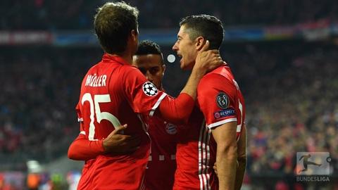 Bayern đã chấm dứt cơn khát chiến thắng bằng màn hủy diệt PSV