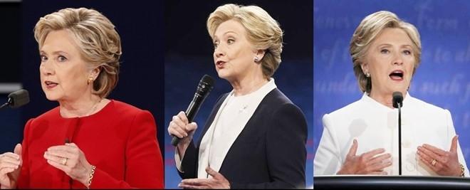 Y nghia bo do trang cua Clinton trong lan tranh luan cuoi hinh anh 1