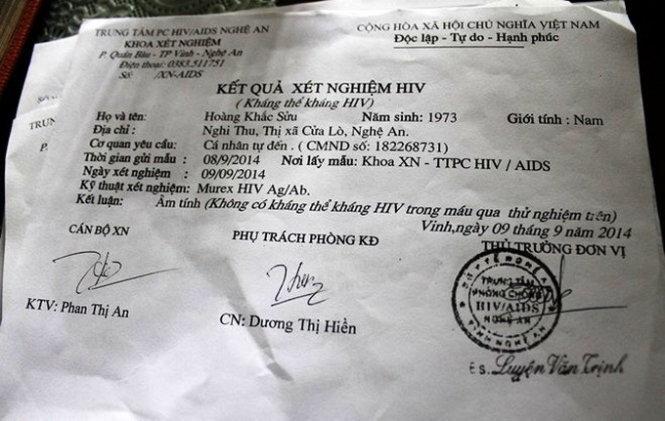 """Bồi thường 50 triệu đồng cho người nhiễm HIV """"oan"""""""