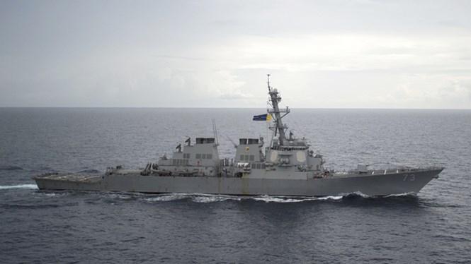 Khu trục hạm USS Decatur của Hải quân Mỹ trên Biển Đông ngày 13.10.2016 /// Hải quân Mỹ
