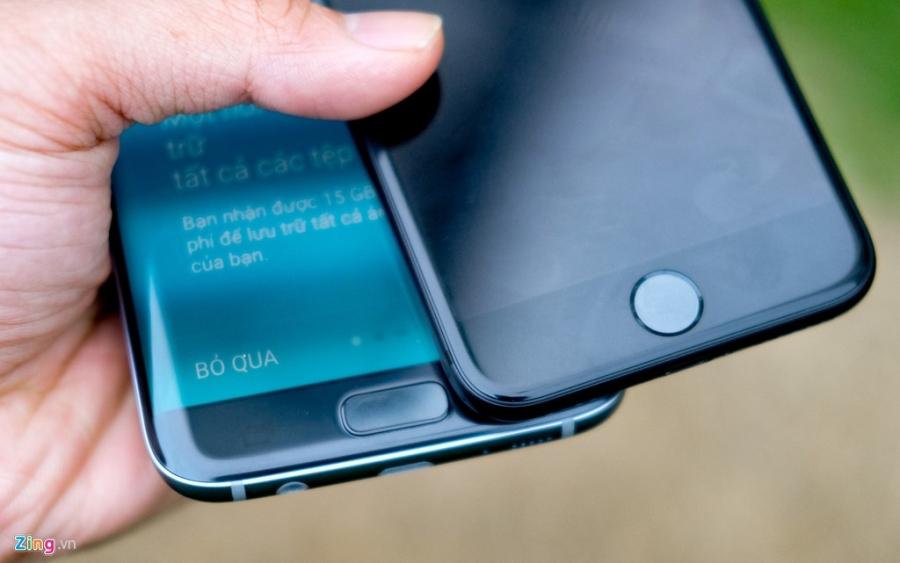 Phien ban mau den cua Galaxy S7 edge va iPhone 7 do dang hinh anh 6
