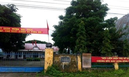 Trụ sở UBND xã Ayun.