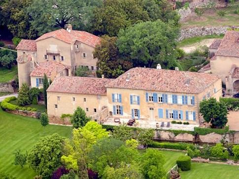 Điền trang Château Miraval nhìn từ trên cao - Ảnh: AFP