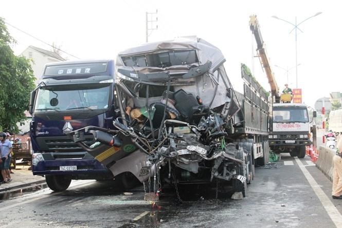 Hiện trường vụ tai nạn /// Ảnh: Nguyễn Phúc