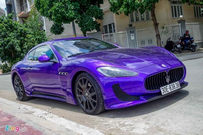 Maserati GranTurismo độ MC Stradale màu tím ở Sài Gòn - 1