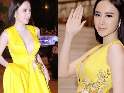 Hết hồn với mốt váy xẻ 'quên nội y' gợi cảm của Angela Phương Trinh