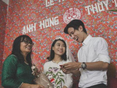 Đám cưới thời bao cấp đẹp mê hồn sau 10 năm yêu của cặp đôi Đà Nẵng