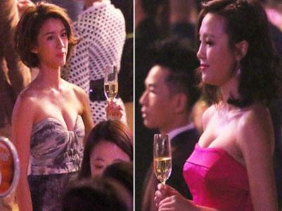 Dàn sao TVB đua nhau khoe ngực gợi cảm ở tiệc tối
