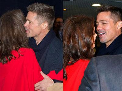 Brad Pitt ôm Marion Cotillard trong buổi công chiếu phim ở Paris