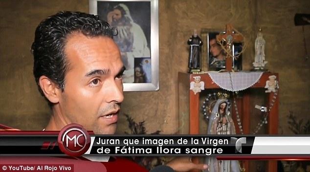 """Phát hiện tượng Đức Mẹ Đồng Trinh """"khóc ra máu"""" ở Mexico - 2"""