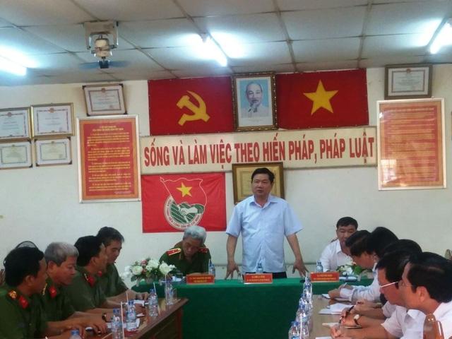 Bí thư Thành ủy TPHCM Đinh La Thăng phát biểu chỉ đạo tại buổi làm việc