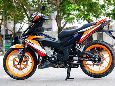 Honda Winner 150 sơn tem đấu dàn áo của biker Biên Hòa
