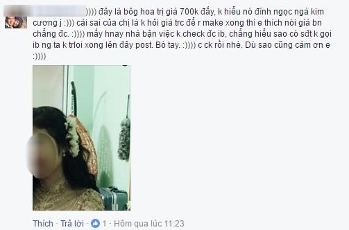 """Sự cố cô dâu xinh đẹp bị """"lôi"""" lên Facebook vì cái hoa cài đầu """"bỗng dưng mất tích"""" - 5"""