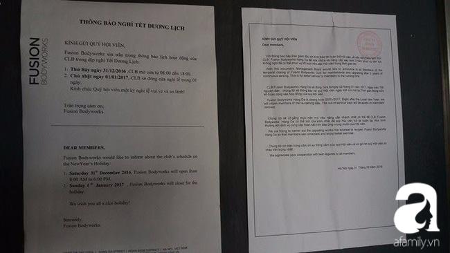 Vụ phòng tập Fusion đóng cửa sửa chữa, bỏ rơi học viên: Bên cho thuê mặt bằng chỉ nhận được thông báo tạm nghỉ - Ảnh 2.