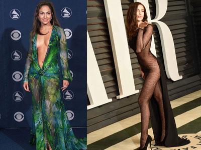 Những chiếc váy khoe da thịt lộ liễu của sao Hollywood