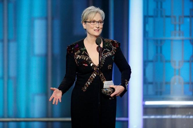 Nữ diễn viên gạo cội Meryl Streep đã có một bài phát biểu để đời tại lễ trao giải Quả cầu vàng lần thứ 74 /// Ảnh: Reuters
