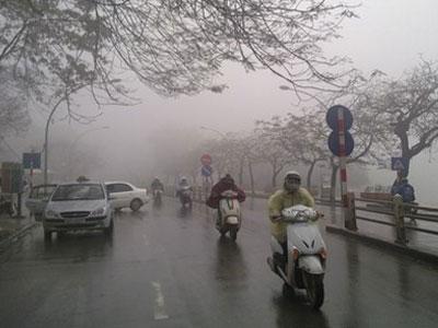 Không khí lạnh tăng cường: Hà Nội có mưa, nền nhiệt xuống 17 độ