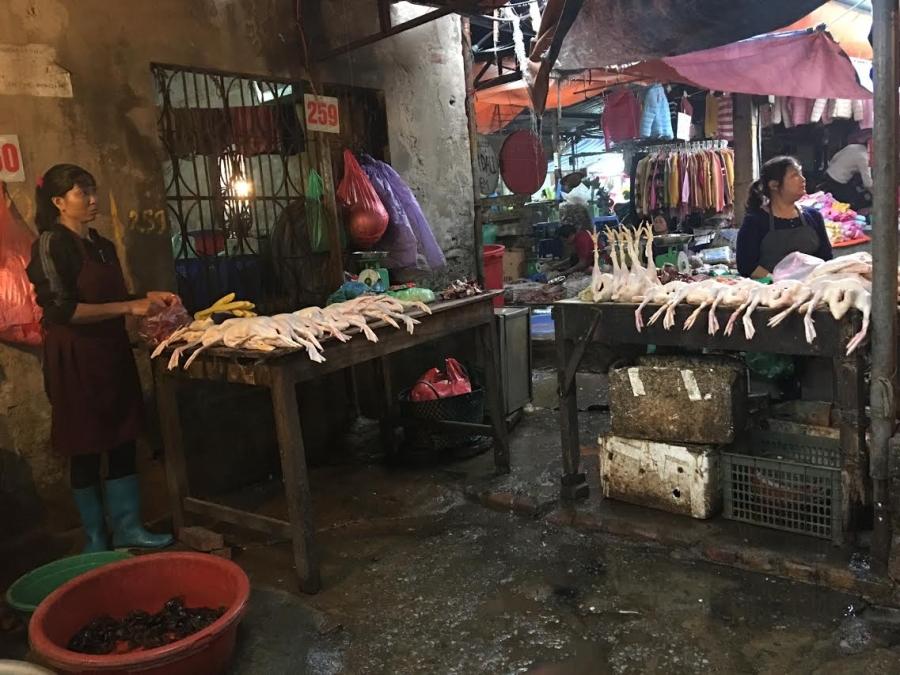 Cảnh giết mổ gà tại chợ: Bà nội trợ hãy 1 lần nhìn lại