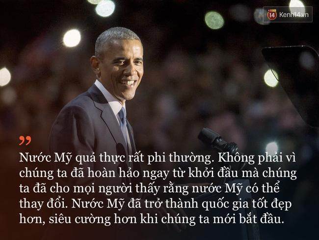 9 câu nói ấn tượng trong bài phát biểu cuối cùng khép lại hành trình 8 năm của Tổng thống Barack Obama với nước Mỹ - Ảnh 3.
