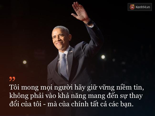 9 câu nói ấn tượng trong bài phát biểu cuối cùng khép lại hành trình 8 năm của Tổng thống Barack Obama với nước Mỹ - Ảnh 10.