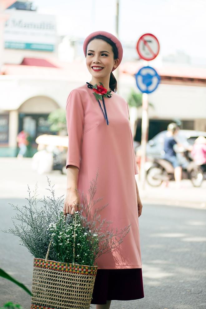 Yen Trang - Yen Nhi goi y trang phuc dao pho Tet hinh anh 9