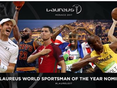 """Đề cử giải """"Oscar thể thao"""" 2017: C.Ronaldo đấu Murray, Usain Bolt"""
